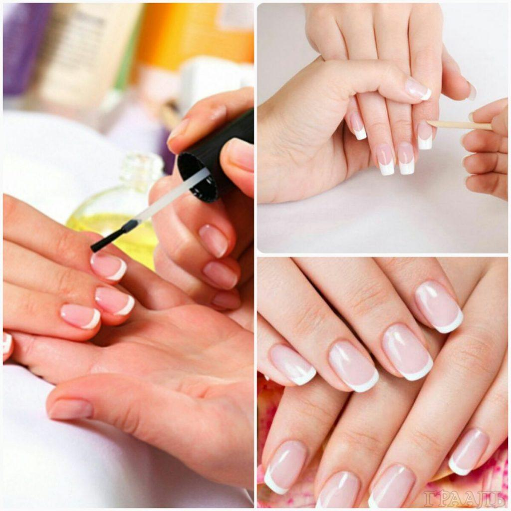 European manicure in the beauty salon Grail