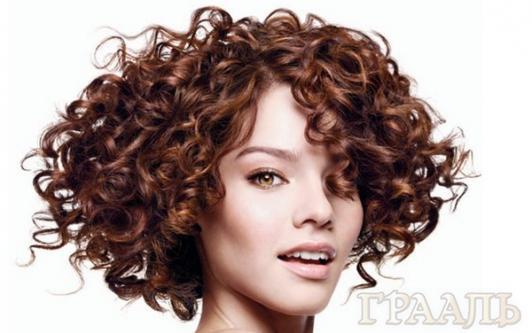 Хим завивка волос в салоне красоты Грааль