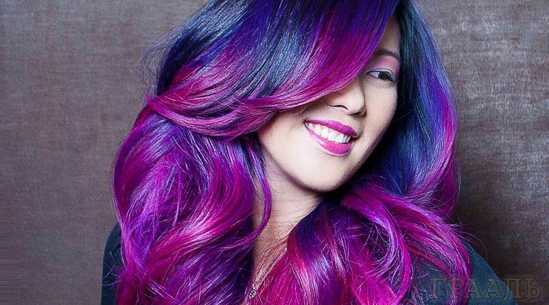 Окрашивание волос в салоне красоты Грааль