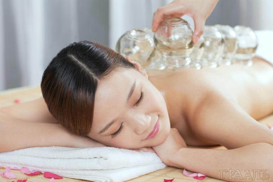 Вакуумный баночный массаж в салоне красоты Грааль